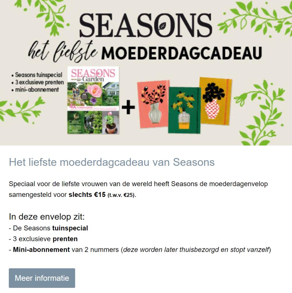 Seasons Moederdag nieuwsbrief
