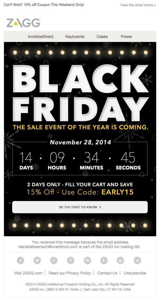 Black Friday E-mail Marketing